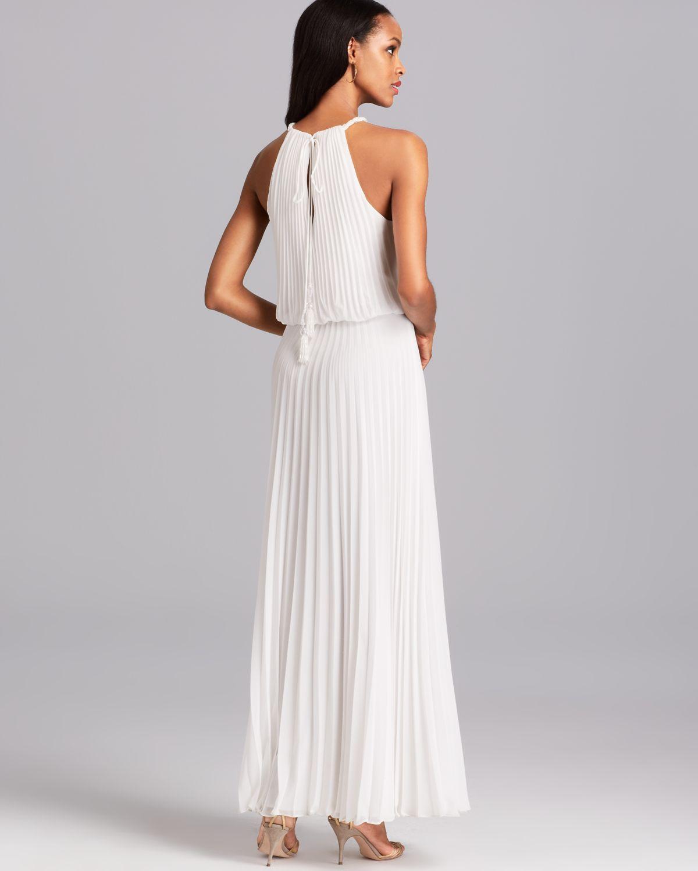 Lyst - Aqua Gown - Grecian Pleated Blouson in White