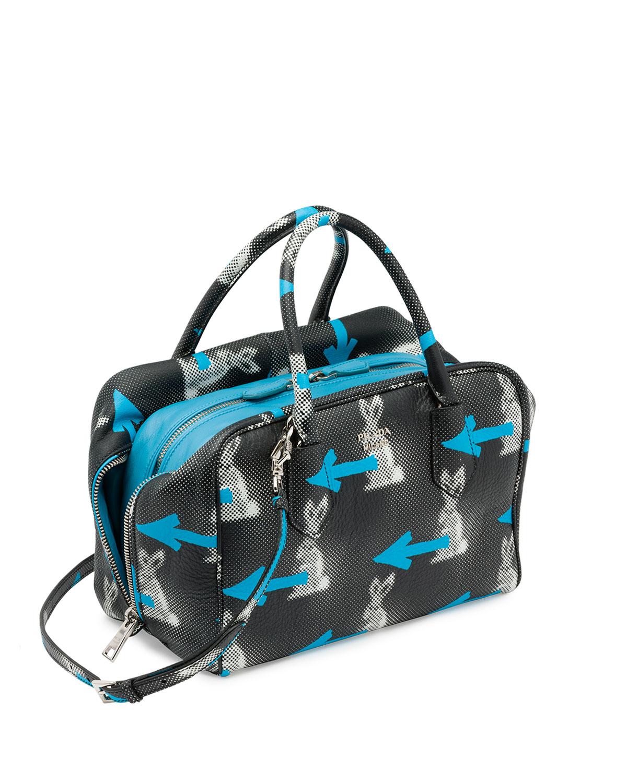 Prada Daino St. Rabbits Inside Bag in Blue | Lyst - prada weekender baltic blue
