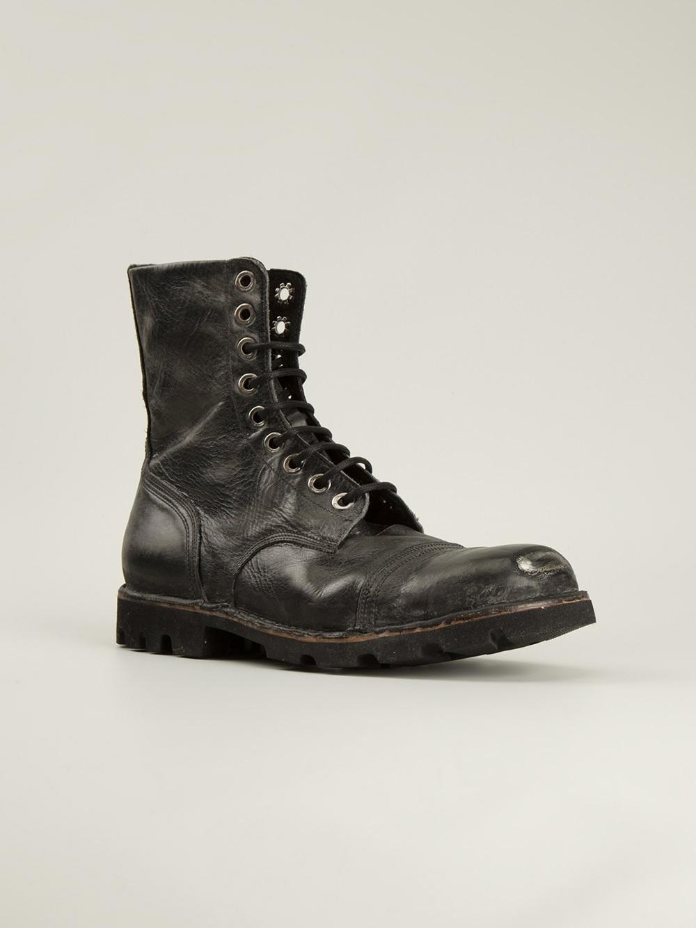 Diesel 'Steel Pro' Boots in Black for Men | Lyst