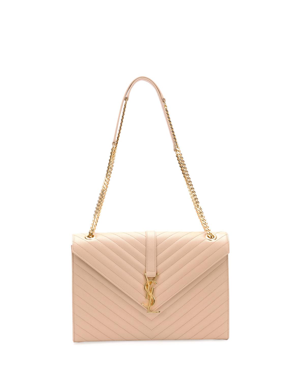 462b4dee02 Lyst - Saint Laurent Monogram Matelasse Shoulder Bag in Pink