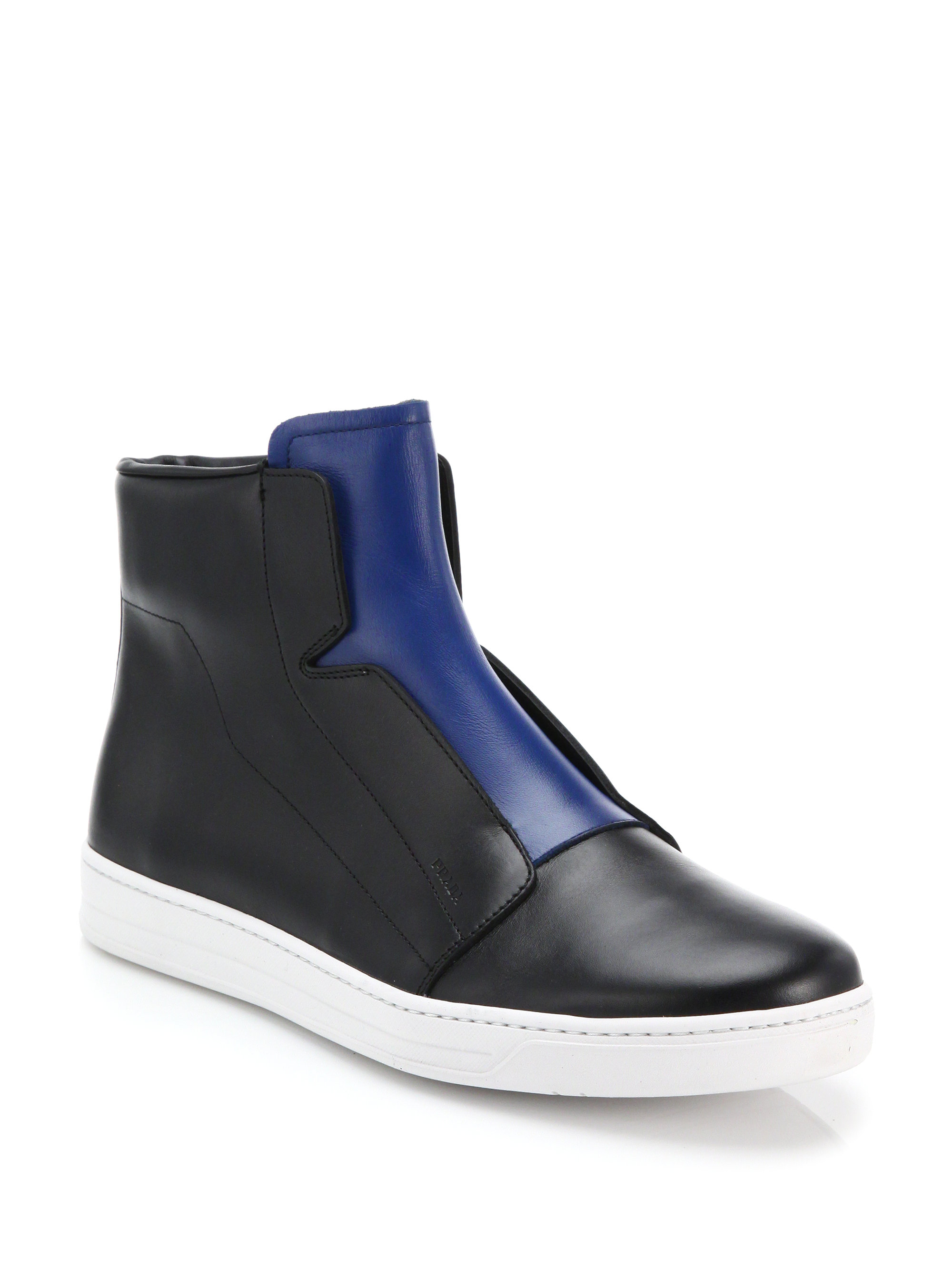 buy cheap wiki Two Tone High Top Sneakers cheap latest outlet huge surprise outlet professional 4EsVlWOD