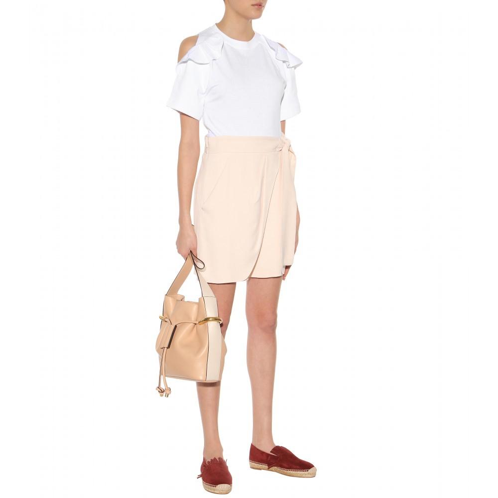 Chlo�� Emma Leather Shoulder Bag in Pink (blush nude height 28cm ...