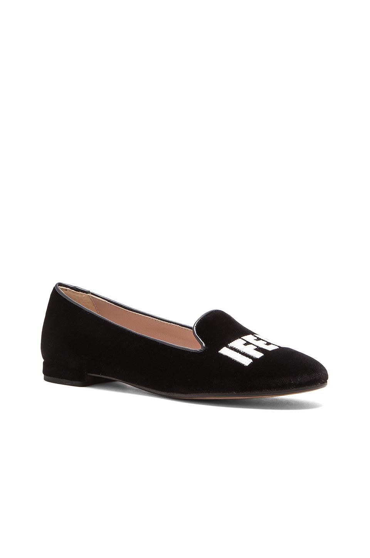 chiara ferragni i feel velvet slippers in black lyst. Black Bedroom Furniture Sets. Home Design Ideas