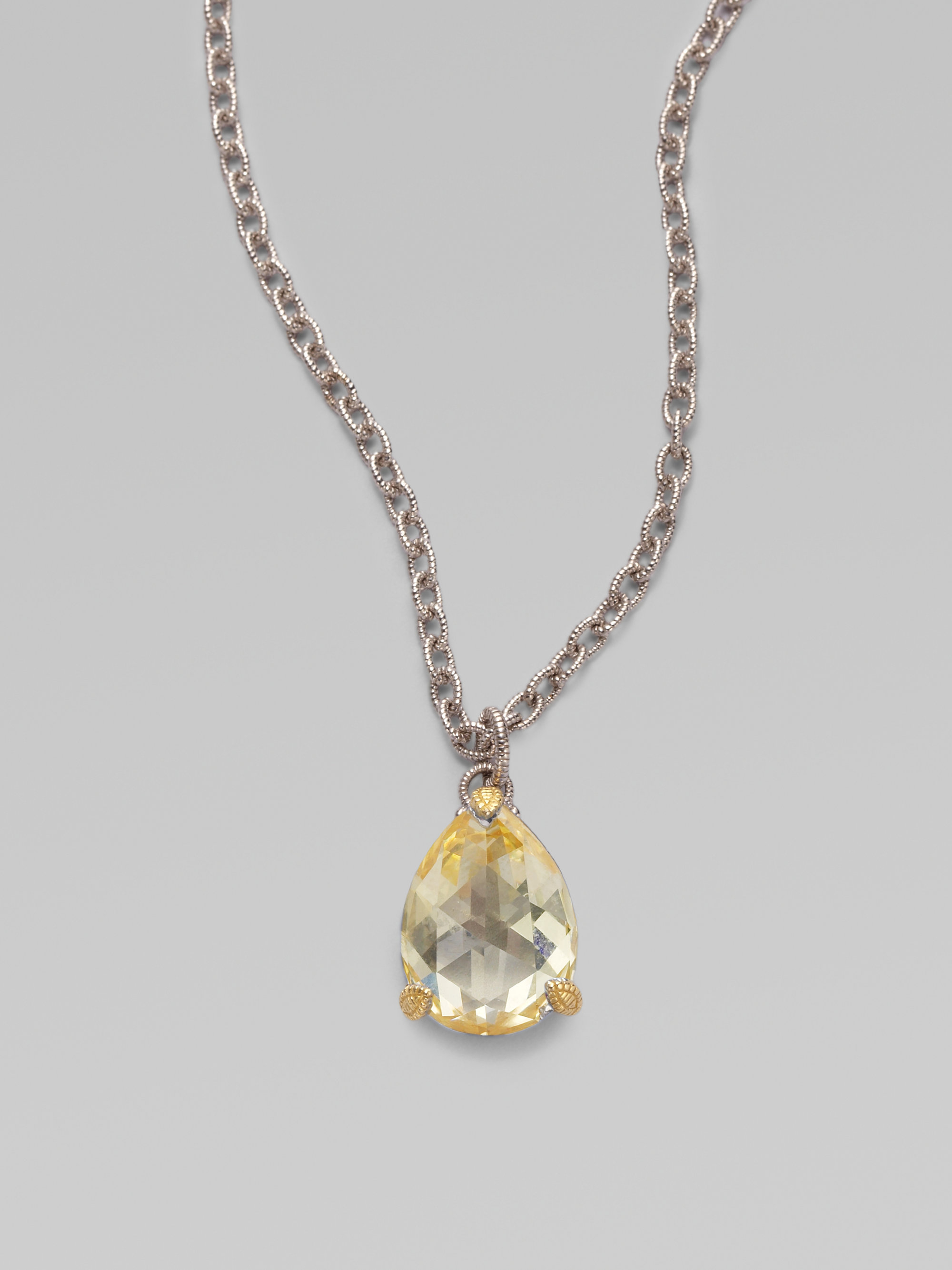 Lyst judith ripka estate canary crystal sterling silver pear gallery aloadofball Images