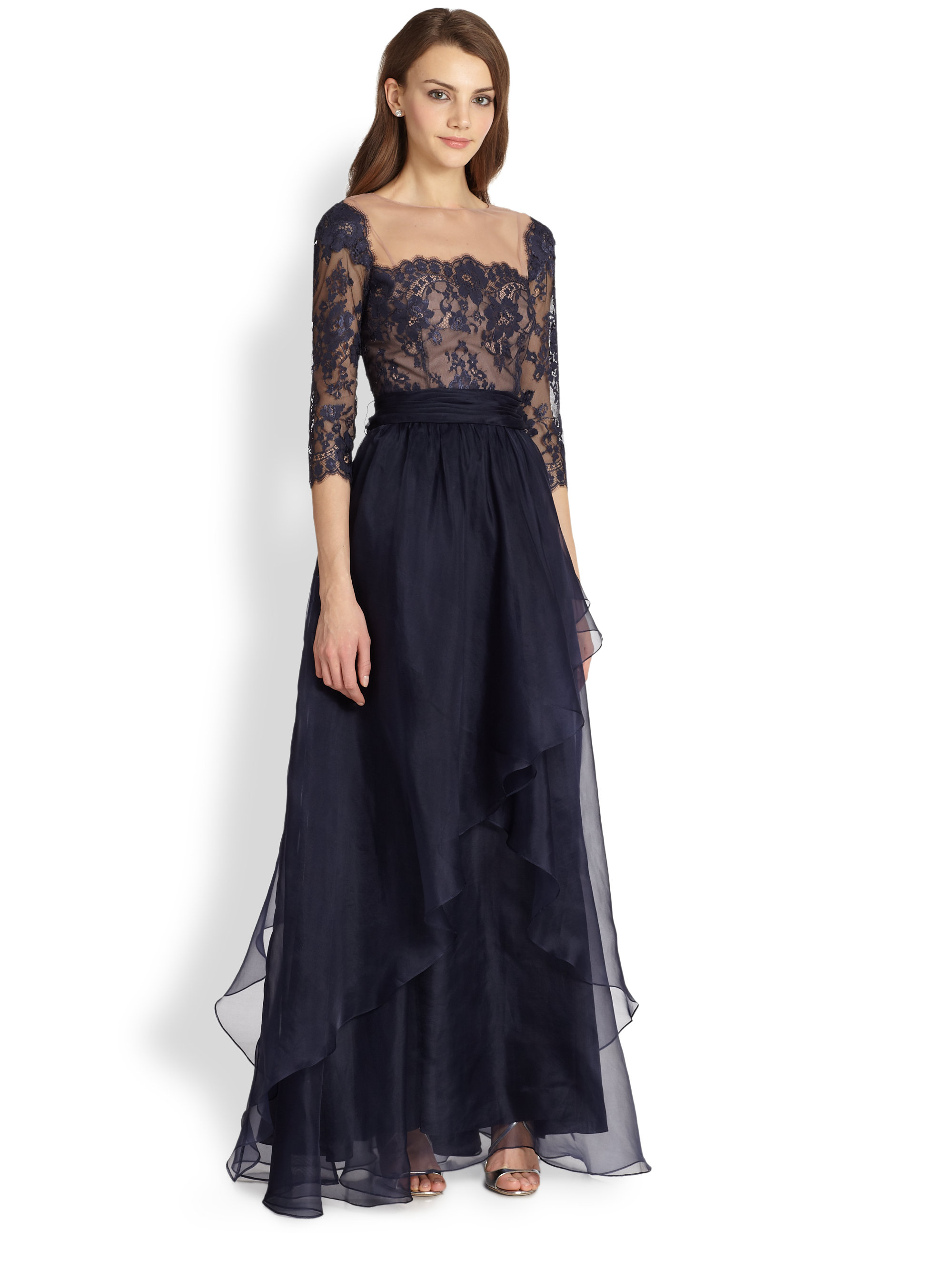 Teri jon lace and chiffon dress