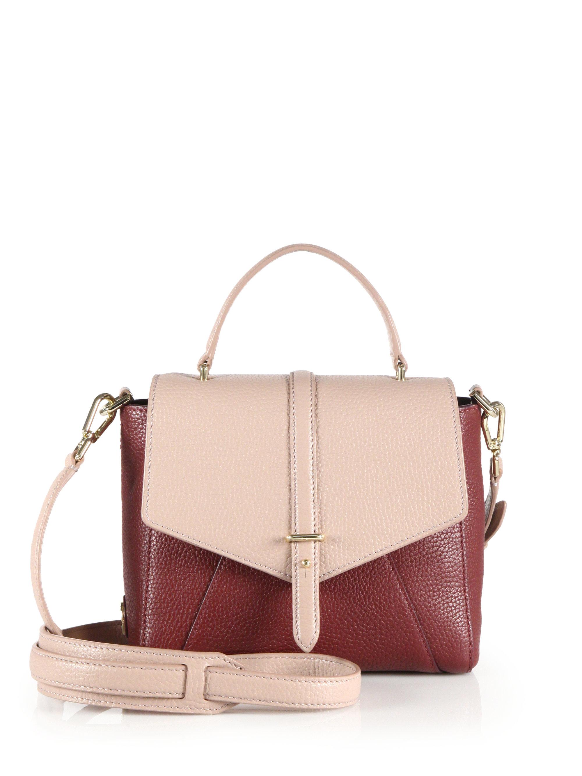 e95980f6590c Lyst - Tory Burch 797 Mini Leather Satchel in Pink
