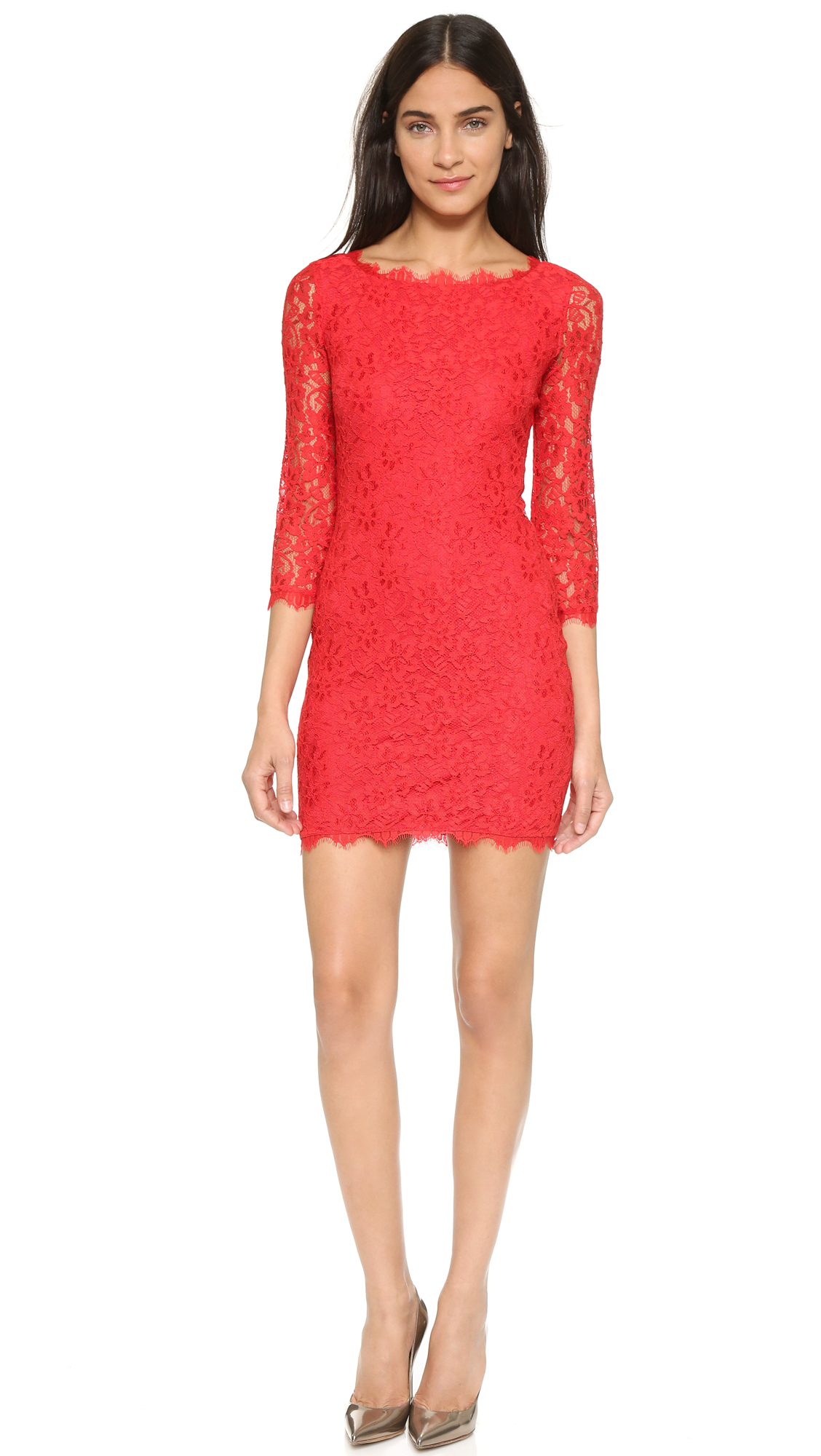 Lyst diane von furstenberg zarita lace dress sundried for Diane von furstenberg clothes