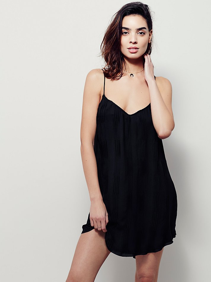 626a57b7f93 Lyst - Free People Intimately Womens Simply Spring Slip in Black