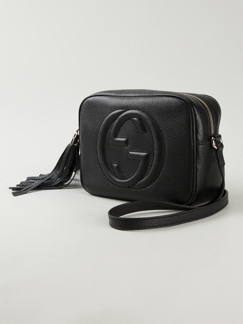 05eef73fa57 Lyst - Gucci Soho Leather Cross-body Bag in Black
