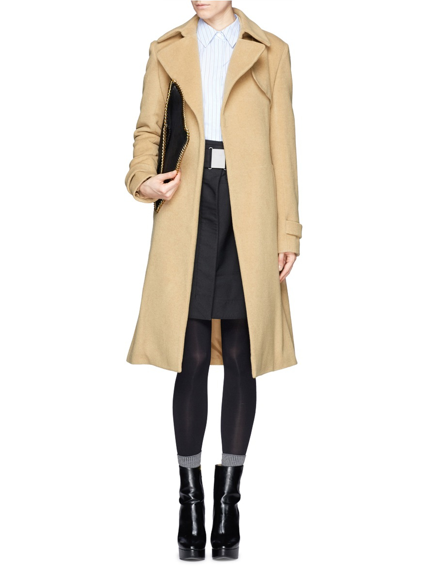 Theory 'terrance' Cashmere Coat in Natural | Lyst