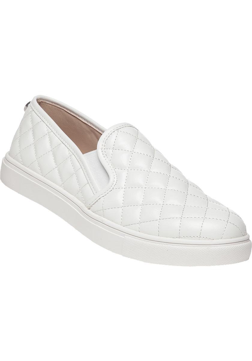 659764711e6 Lyst - Steve Madden Ecentrcq Slip-on Sneaker White in White