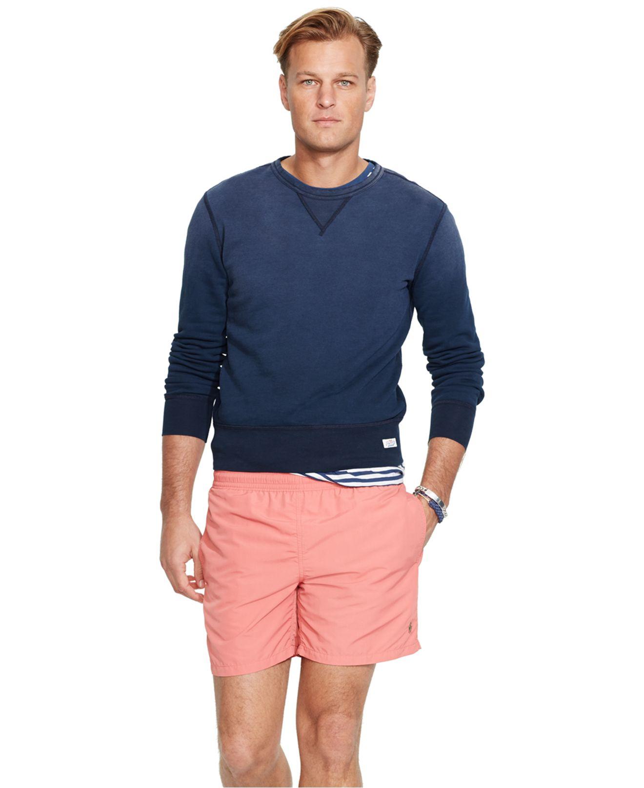Polo ralph lauren Big And Tall Nylon Hawaiian Swim Shorts in Pink ...