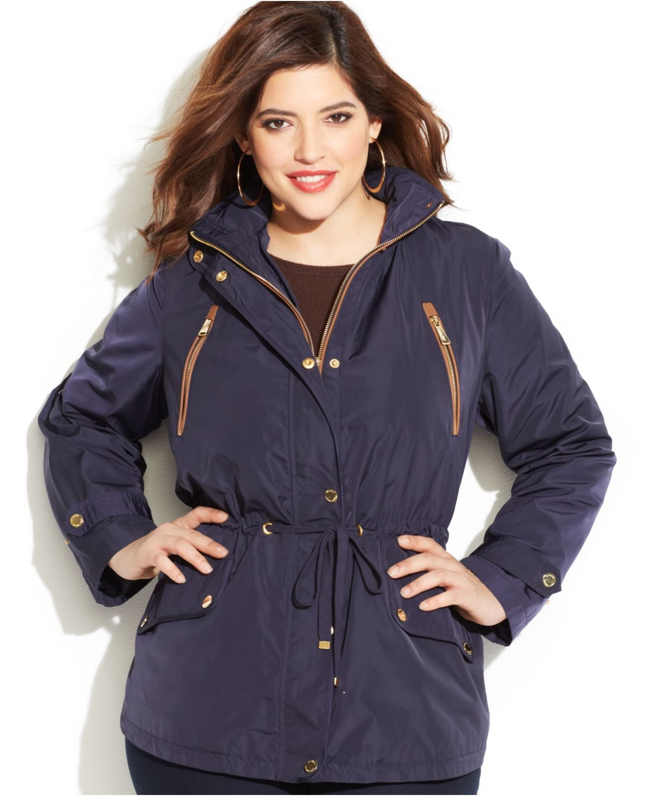 Plus Size Anorak Jacket