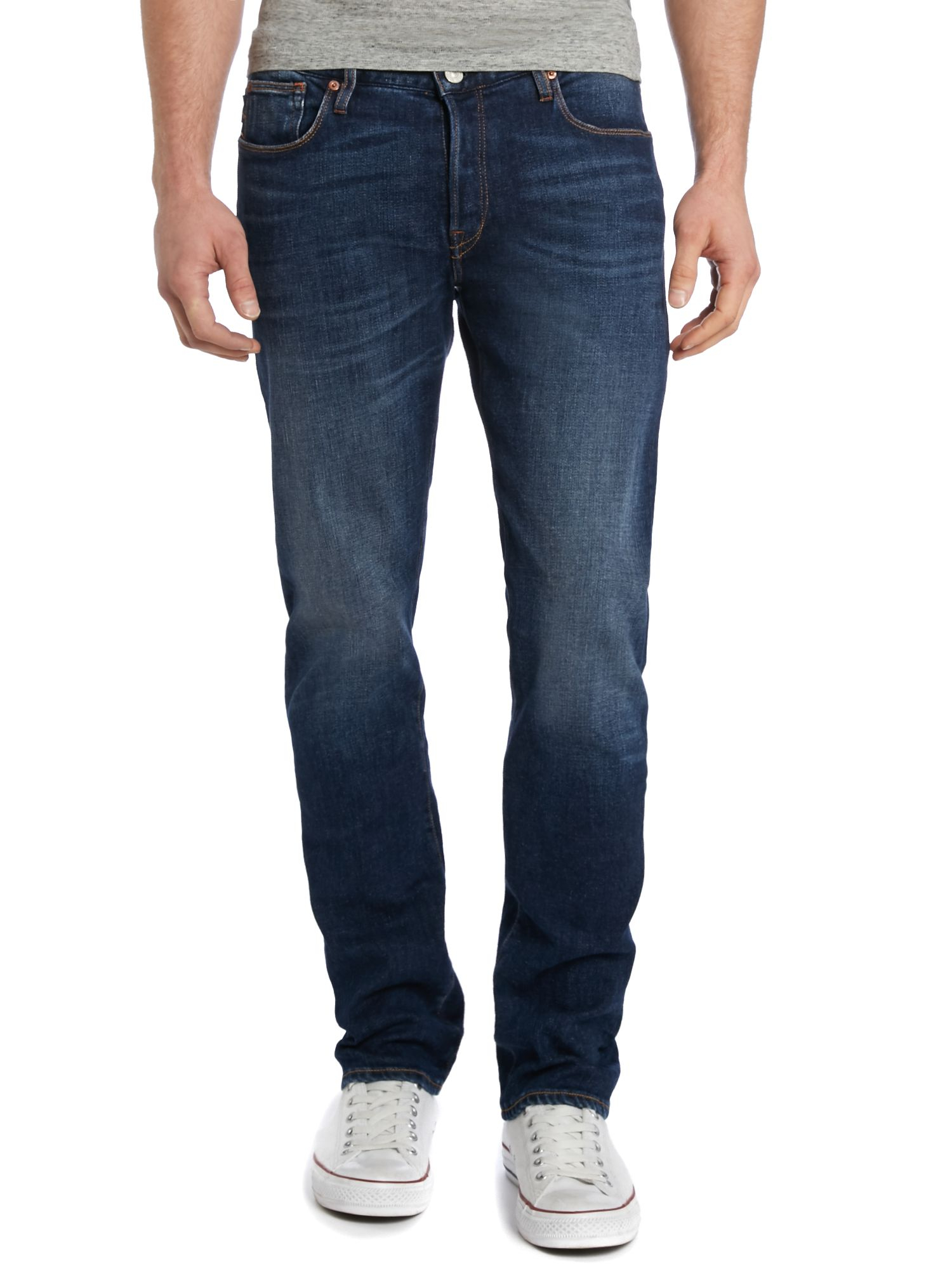 Paul smith Tapered Leg Dark Wash Jeans in Blue for Men | Lyst