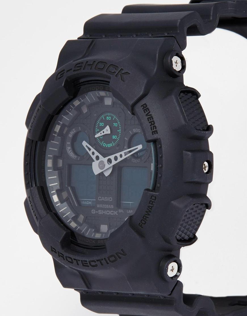 G Shock G Shock Analogue Watch Ga 100mb 1aer In Black For