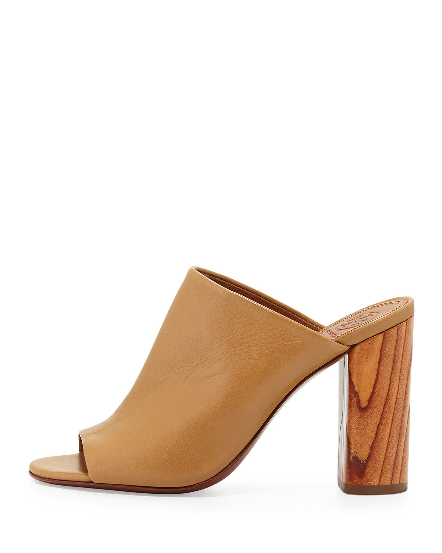 044d136fdfa5b Lyst - Tory Burch Raya Leather Mule Sandal in Natural