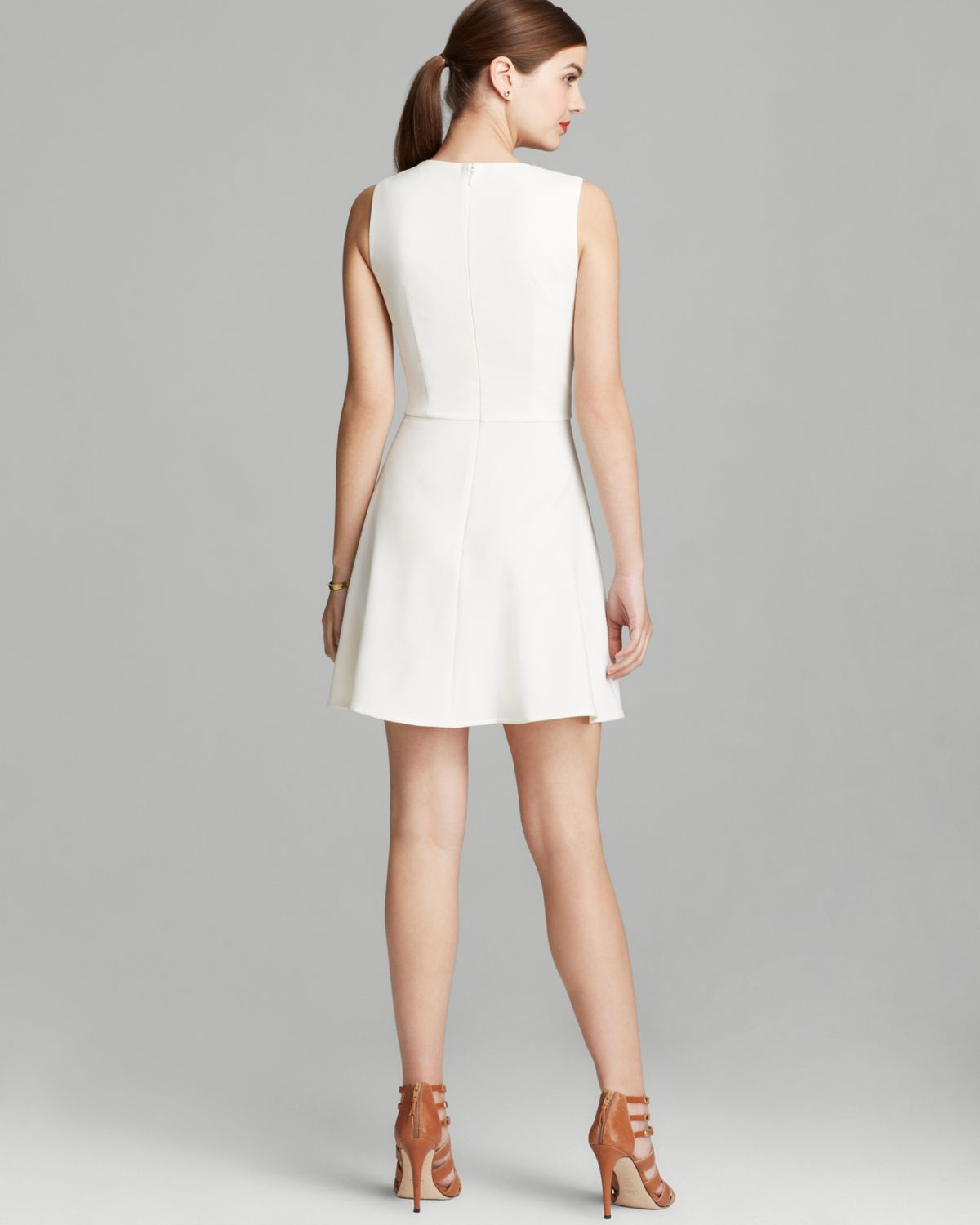 86279875b7c French Connection Dress Feather Ruth Classics Cutout in White - Lyst