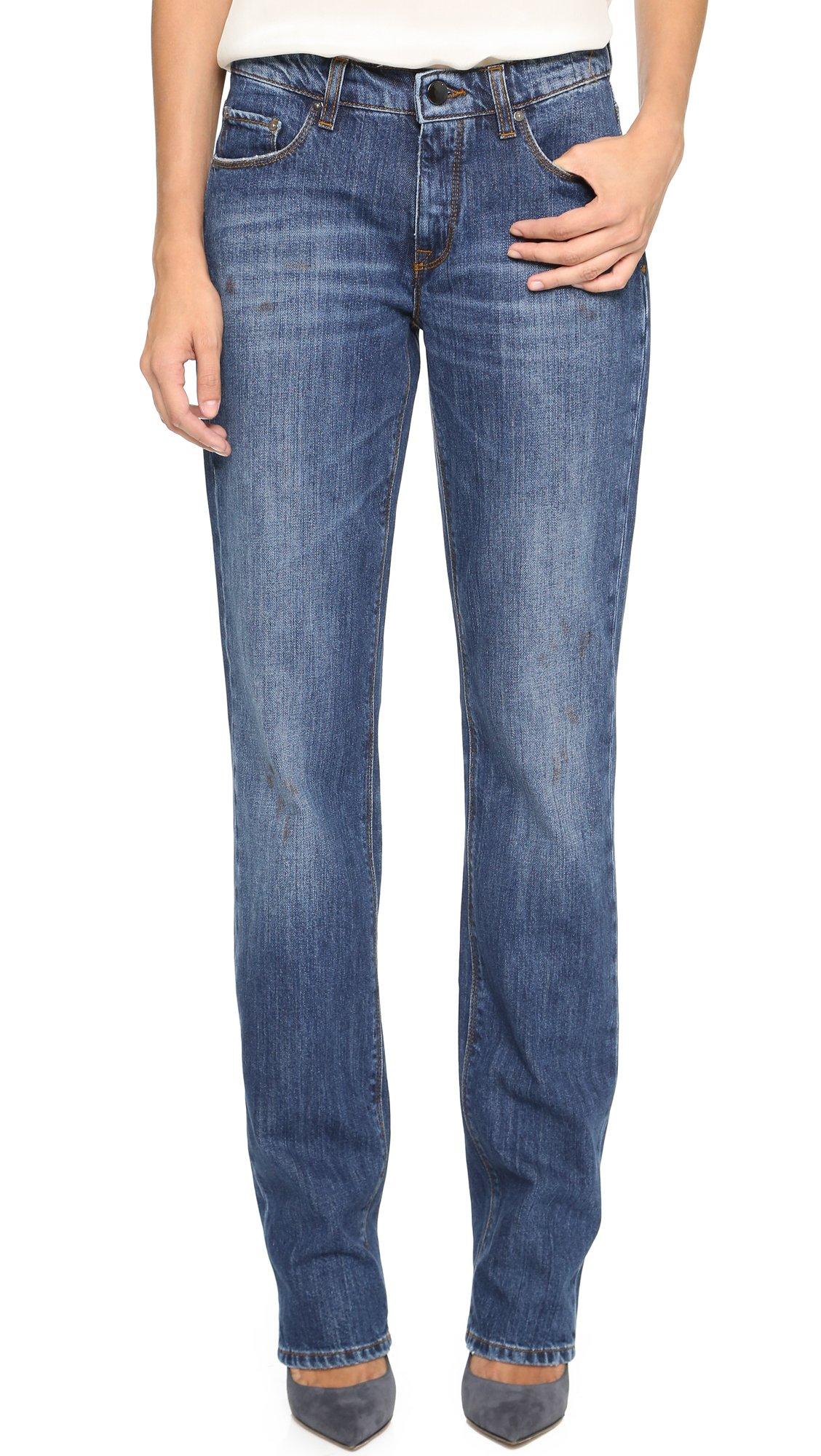 lyst victoria beckham straight leg jeans shawvintage in blue. Black Bedroom Furniture Sets. Home Design Ideas
