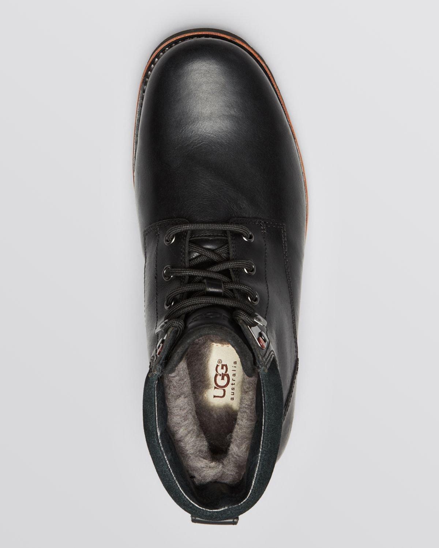 lyst ugg australia waterproof seton boots in black for