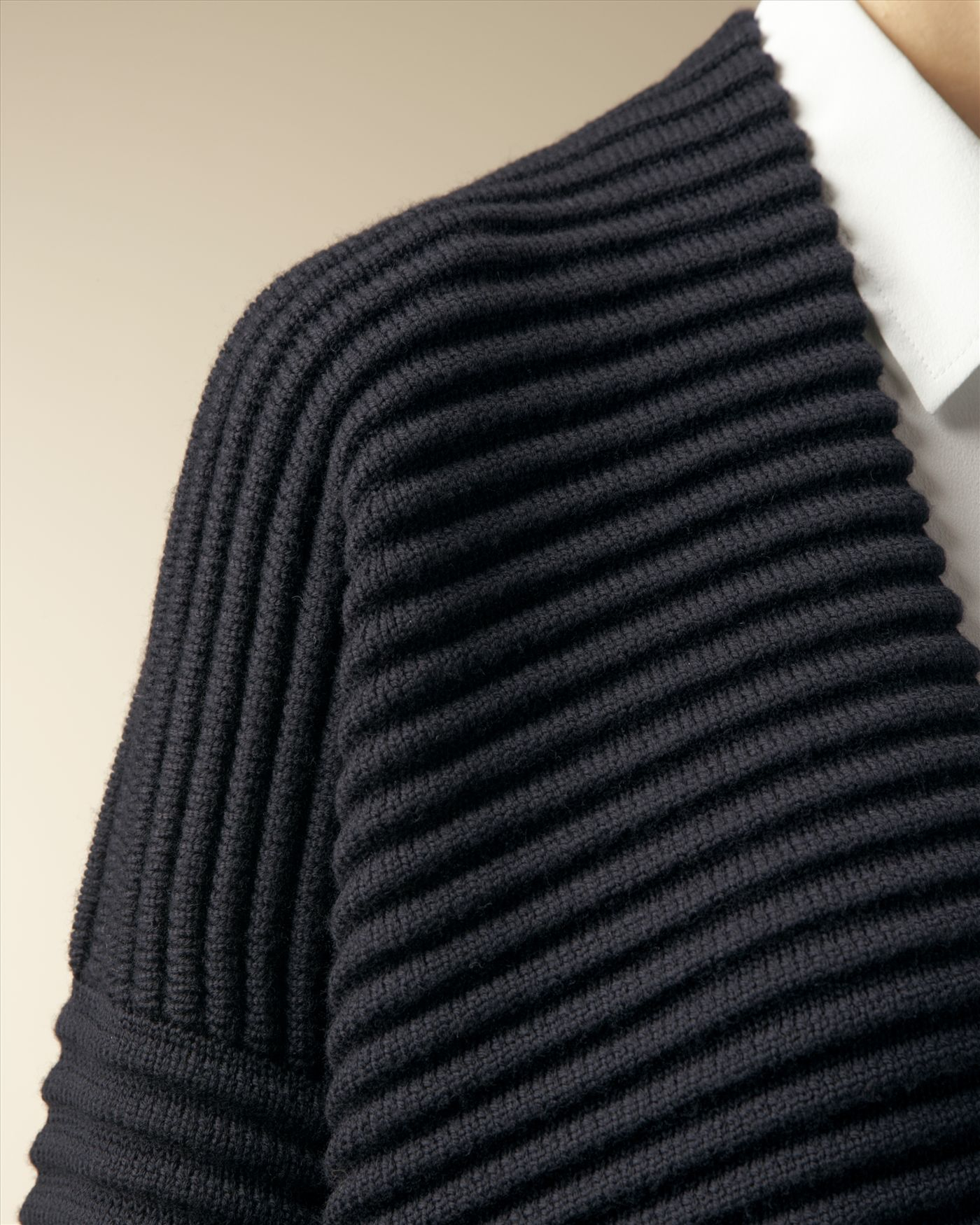 Jaeger Knitting Patterns Free : Jaeger Wool Ottoman Rib Knit Jacket in Blue (Navy) Lyst