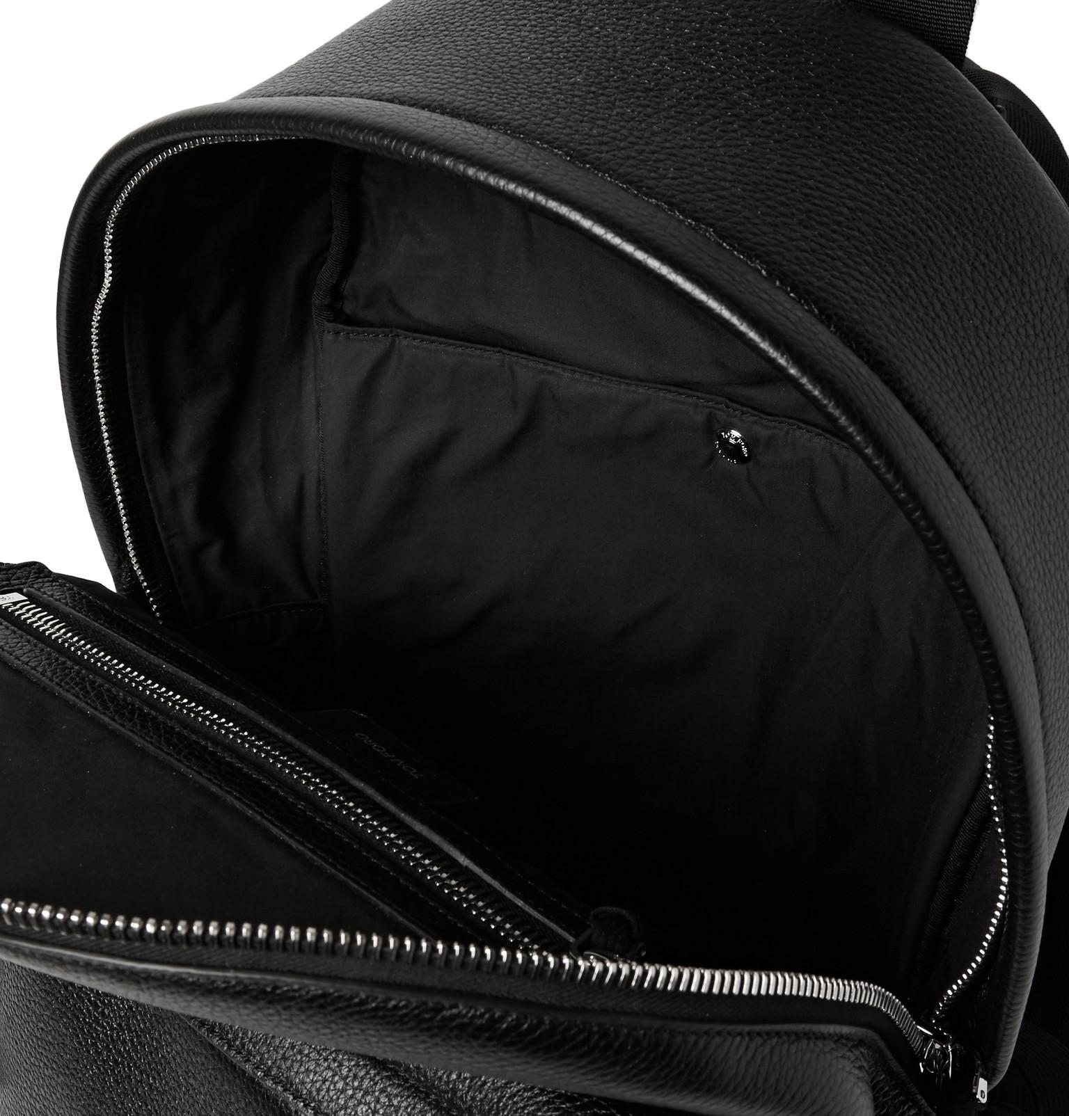 lyst tom ford suede panelled full grain leather backpack. Black Bedroom Furniture Sets. Home Design Ideas