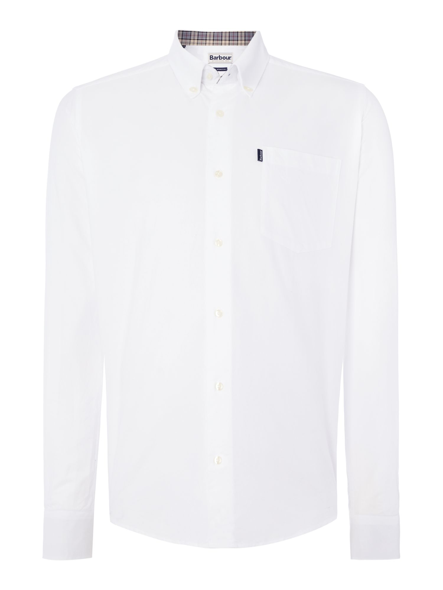 barbour the oxford long sleeve button down shirt in white ForOxford Long Sleeve Button Down Shirt