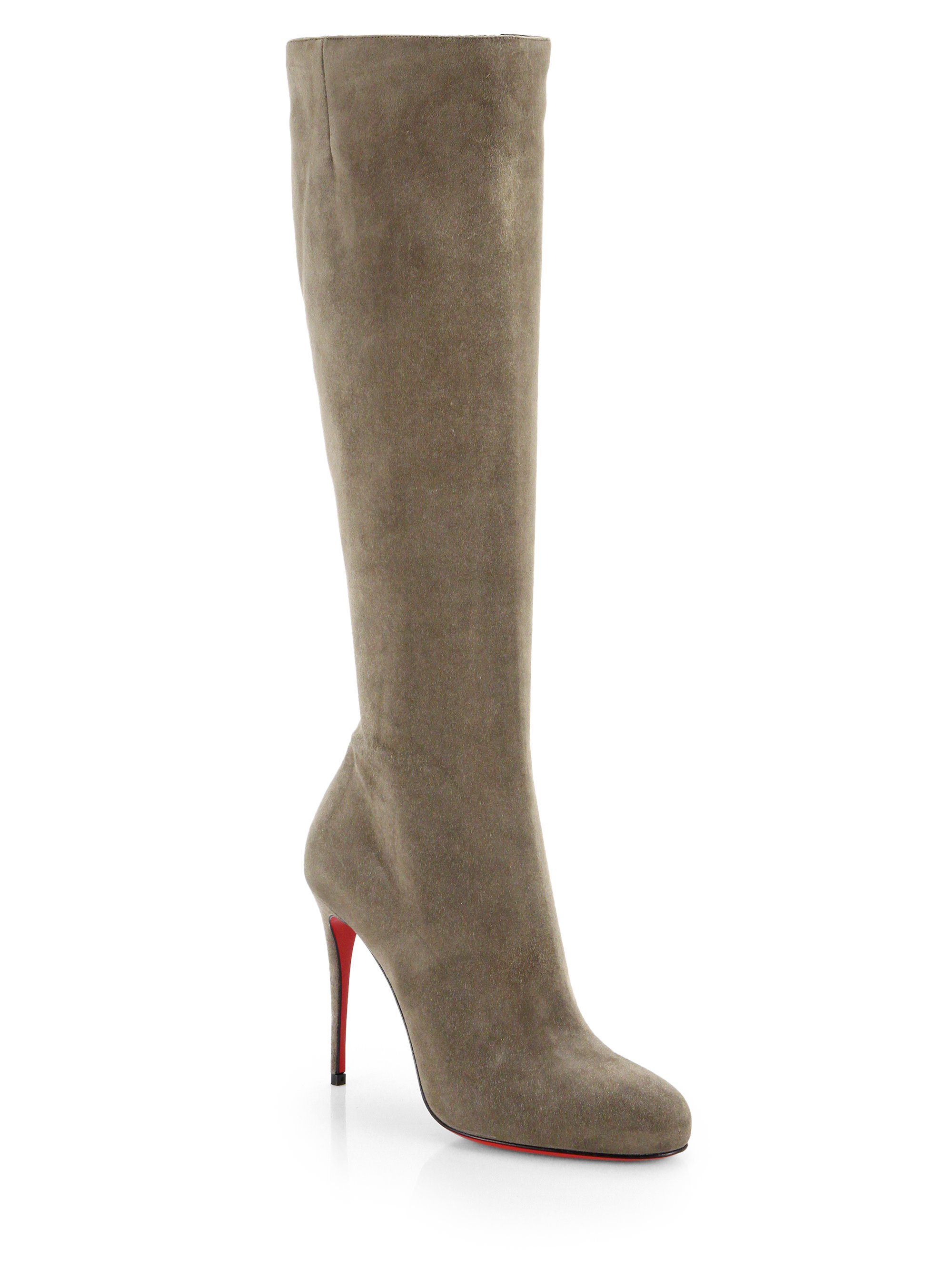 christian louboutin fifi botta suede knee high boots in
