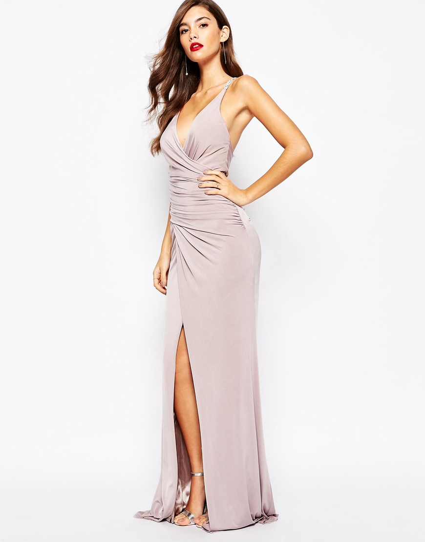 Forever Unique Shakria Wrap Front Maxi Dress With -7287
