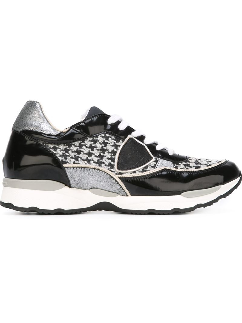 Lyst Philippe Model Houndstooth Panel Sneakers In Black