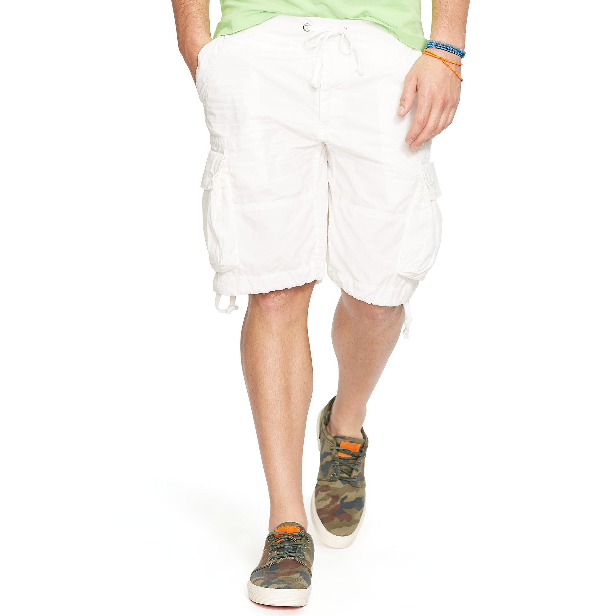 fb0facca0 Polo Ralph Lauren Classic-fit Poplin Cargo Short in White for Men - Lyst