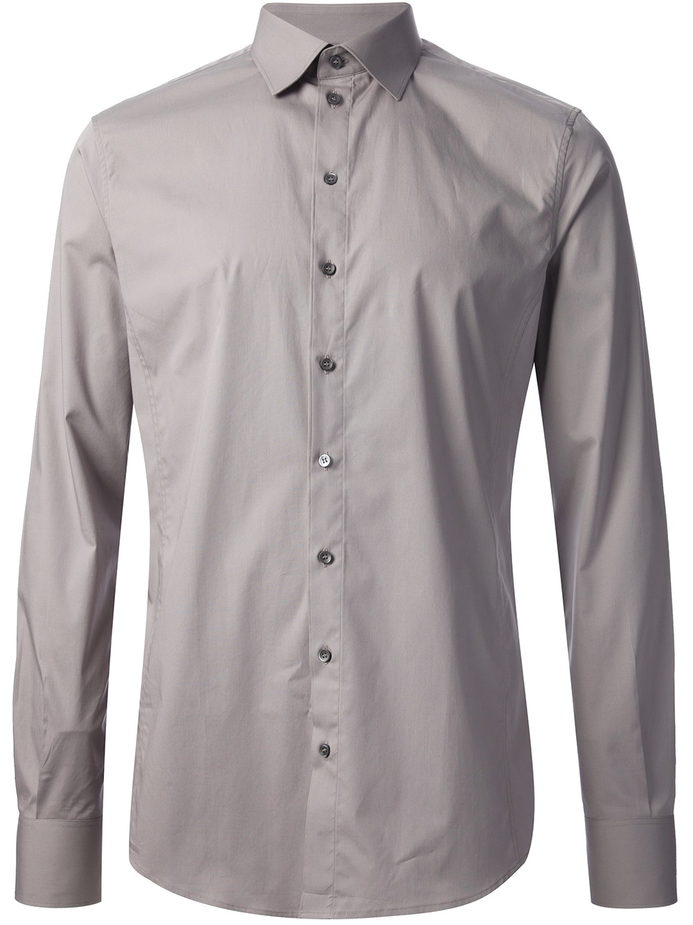 Dolce & gabbana Button Down Shirt in Gray for Men | Lyst