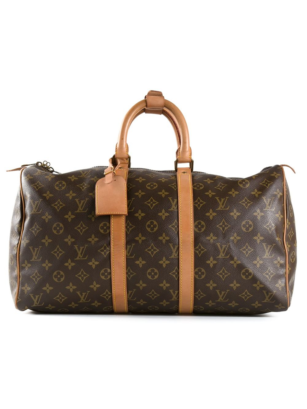 louis vuitton monogram 39 45 39 keepall bag in brown lyst. Black Bedroom Furniture Sets. Home Design Ideas