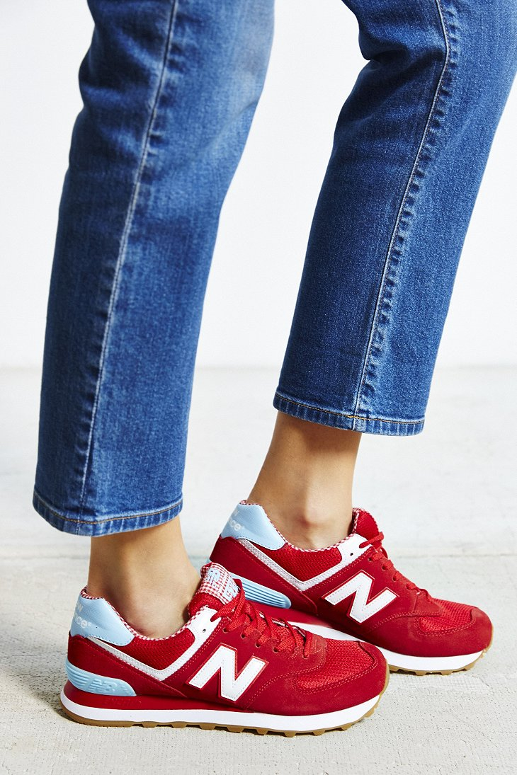 Lyst New Balance Picnic Running Sneaker In Red