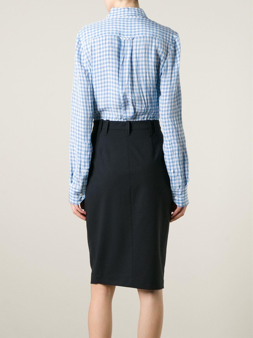 Altuzarra Checked Cotton And Silk Blend Shirt Dress In