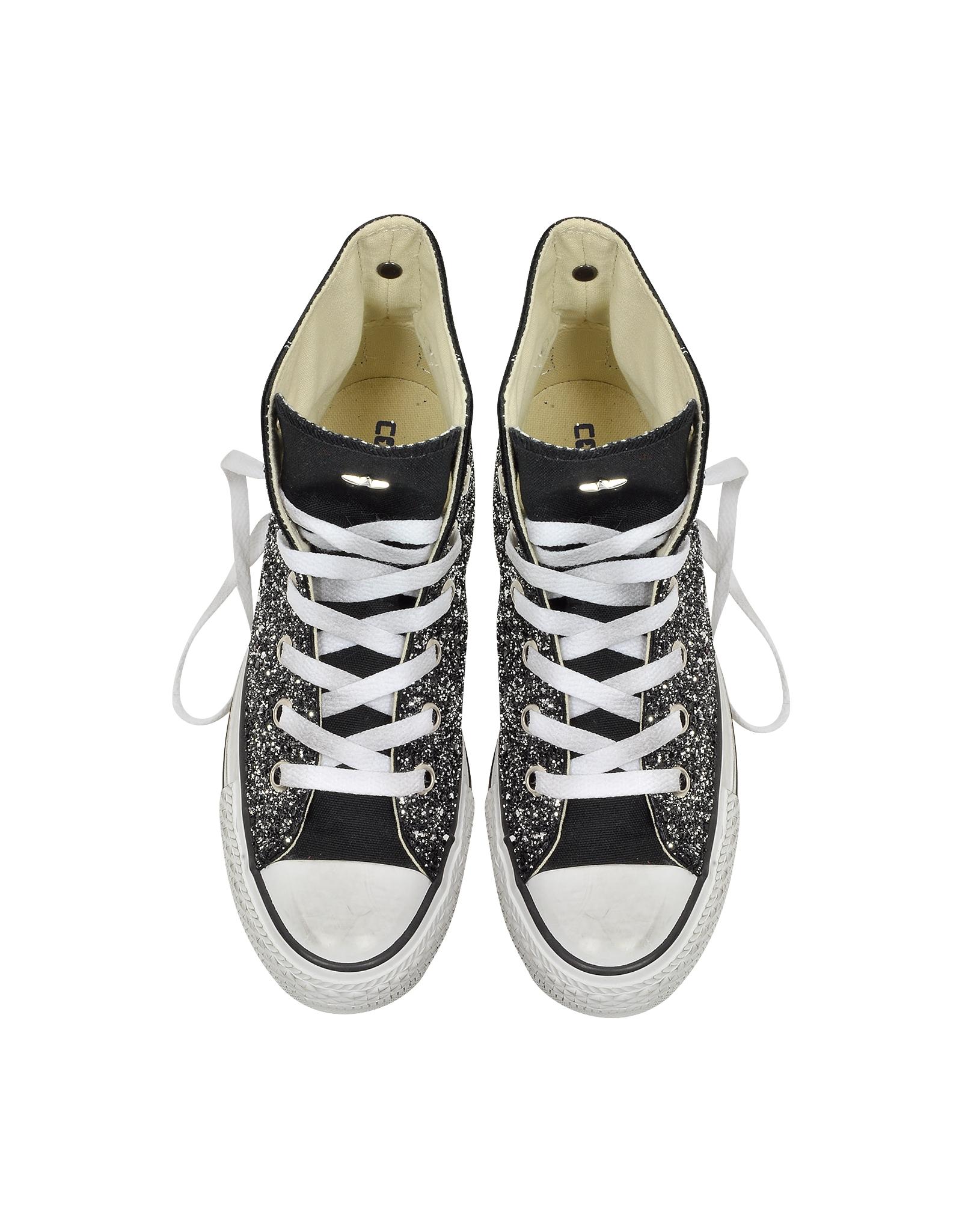 Sequin Black Converse Shoes