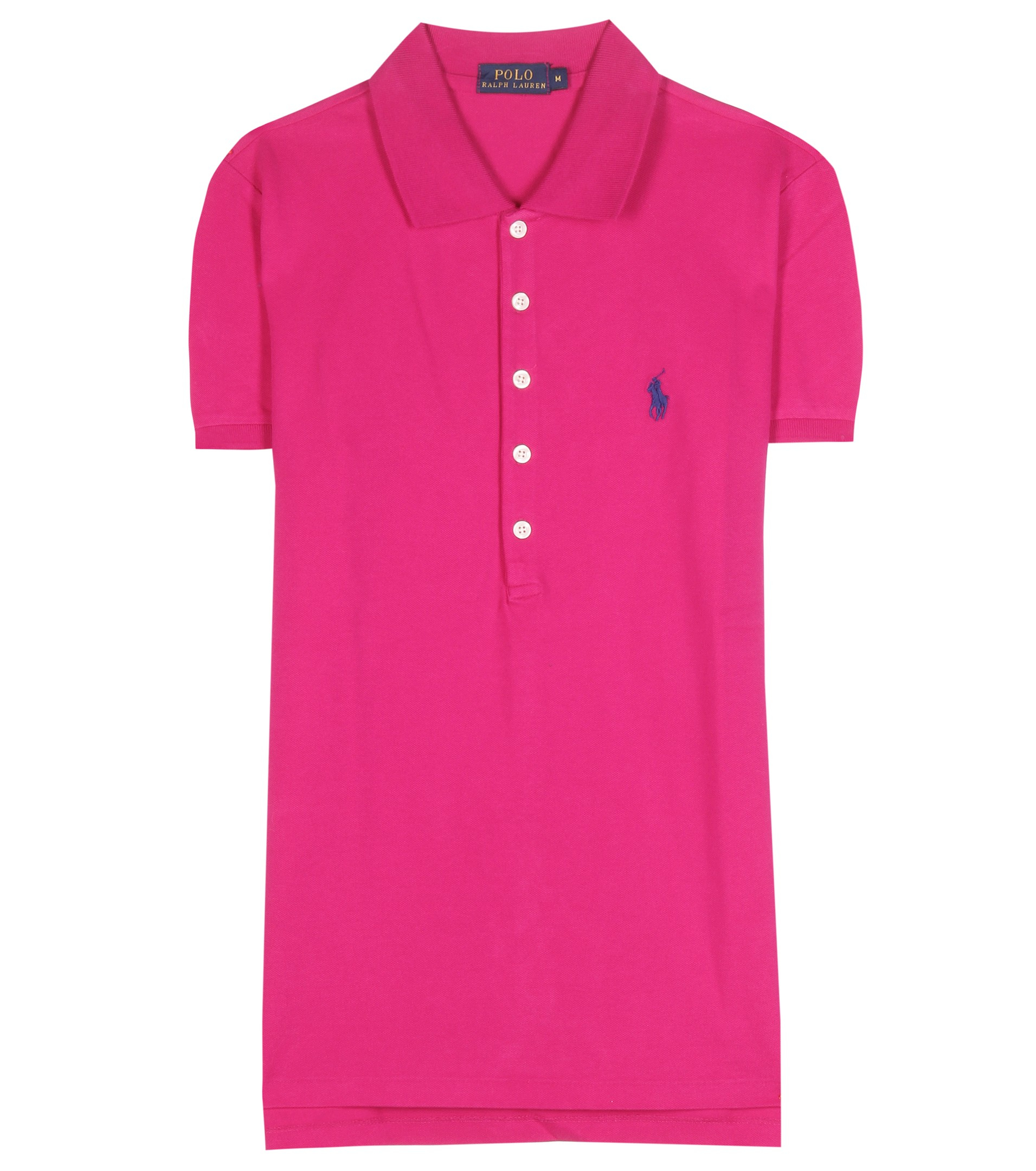 Lyst polo ralph lauren julie embroidered cotton piqu for Work polo shirts embroidered