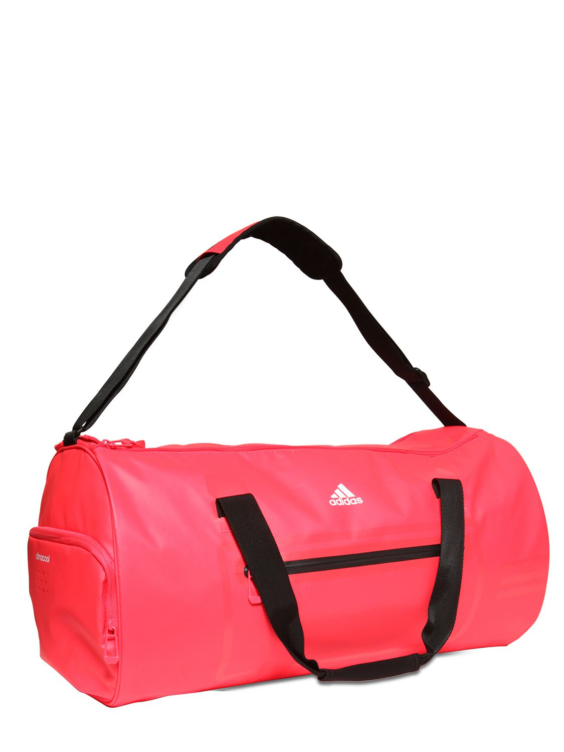 Adidas Originals Water Repellent Coated Nylon Duffle Bag In Red