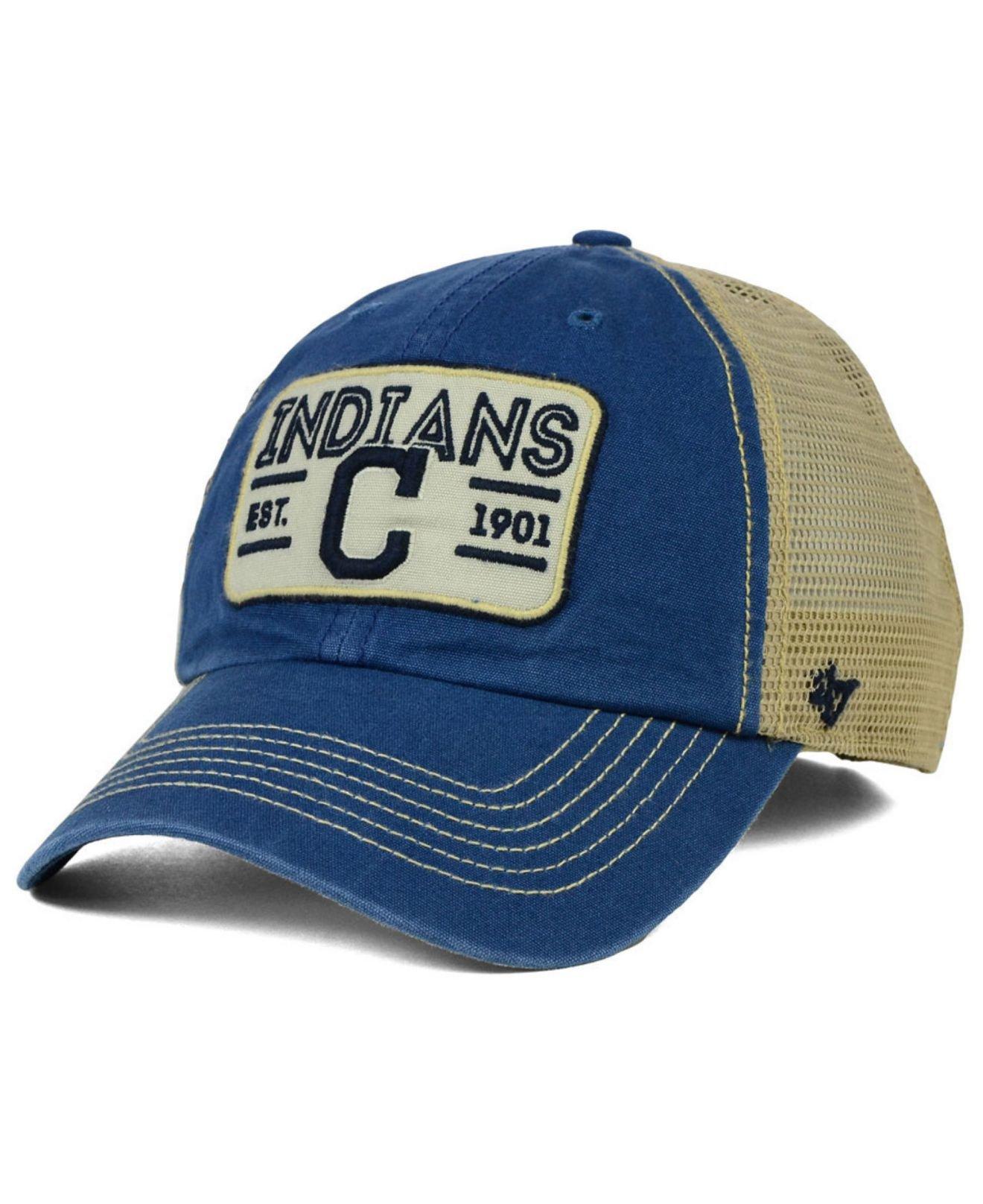 e6e70b994 Lyst 47 Brand Cleveland Indians Goin Yard Mesh Cap In Blue For Men