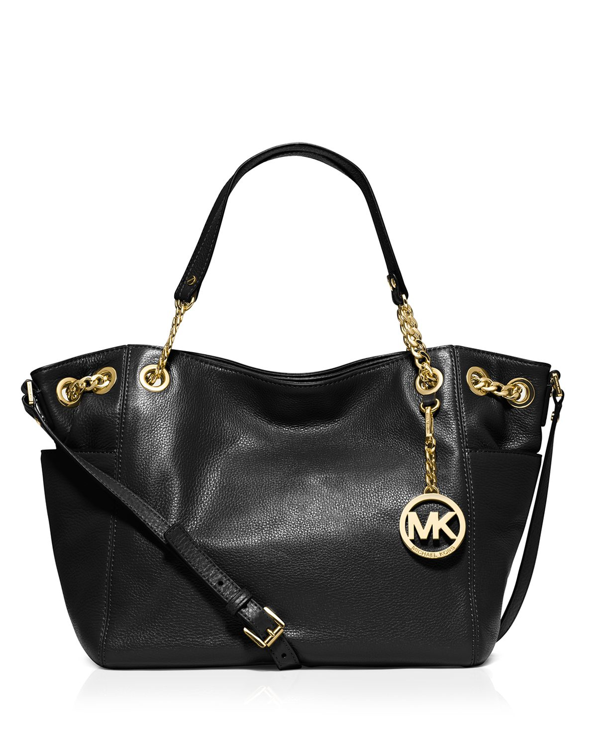 michael michael kors tote jet set chain large pocket in. Black Bedroom Furniture Sets. Home Design Ideas