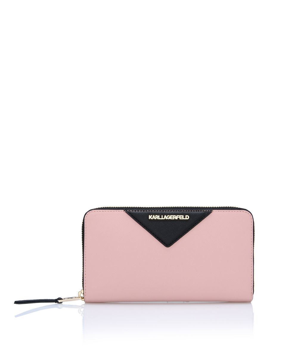 1a7ccfc9885da Lyst - Karl Lagerfeld K klassik Zip Around Wallet in Pink