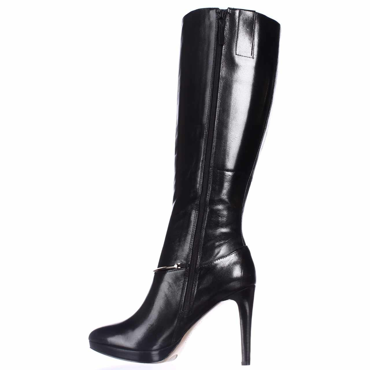 nine west pearson wide calf knee high boots in black lyst