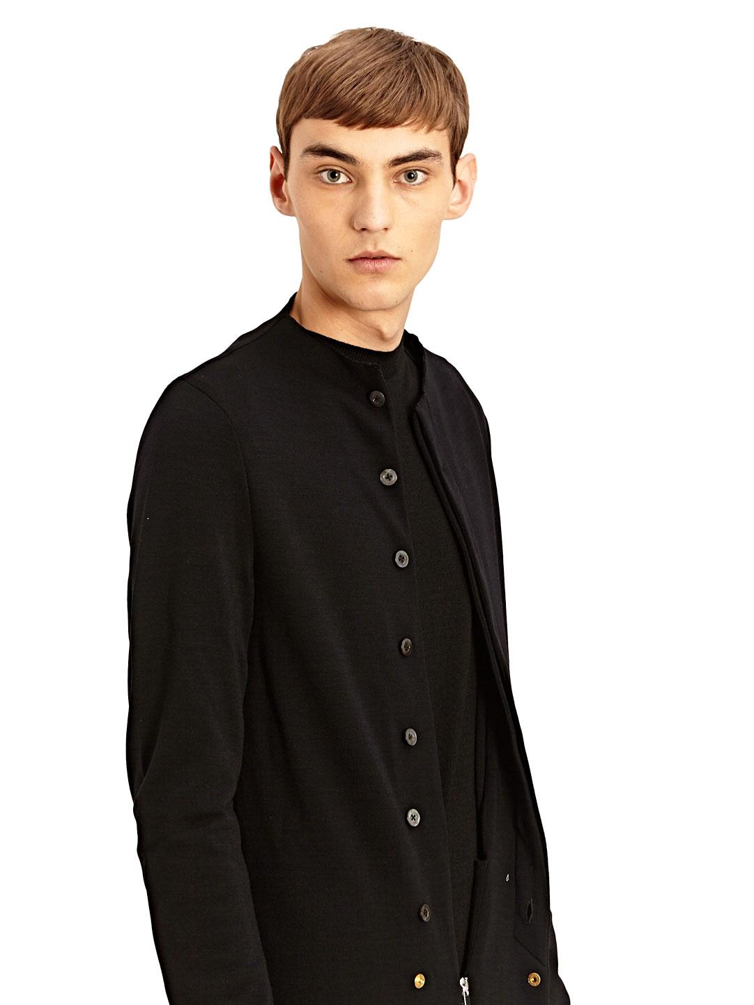 Lyst thamanyah mens extra long asymmetrical zipped for Extra long mens dress shirts