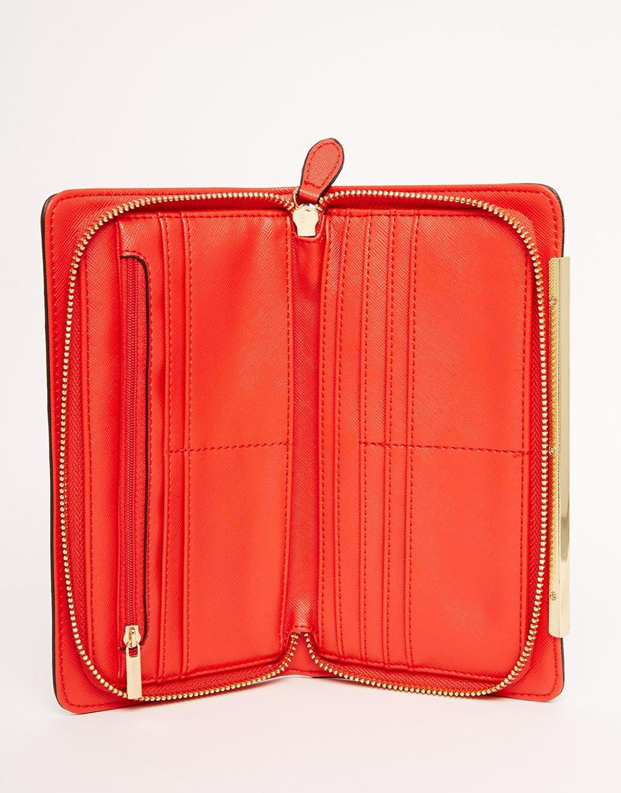 23e835f12ce9 ALDO Simple Zip Around Purse In Red in Red - Lyst