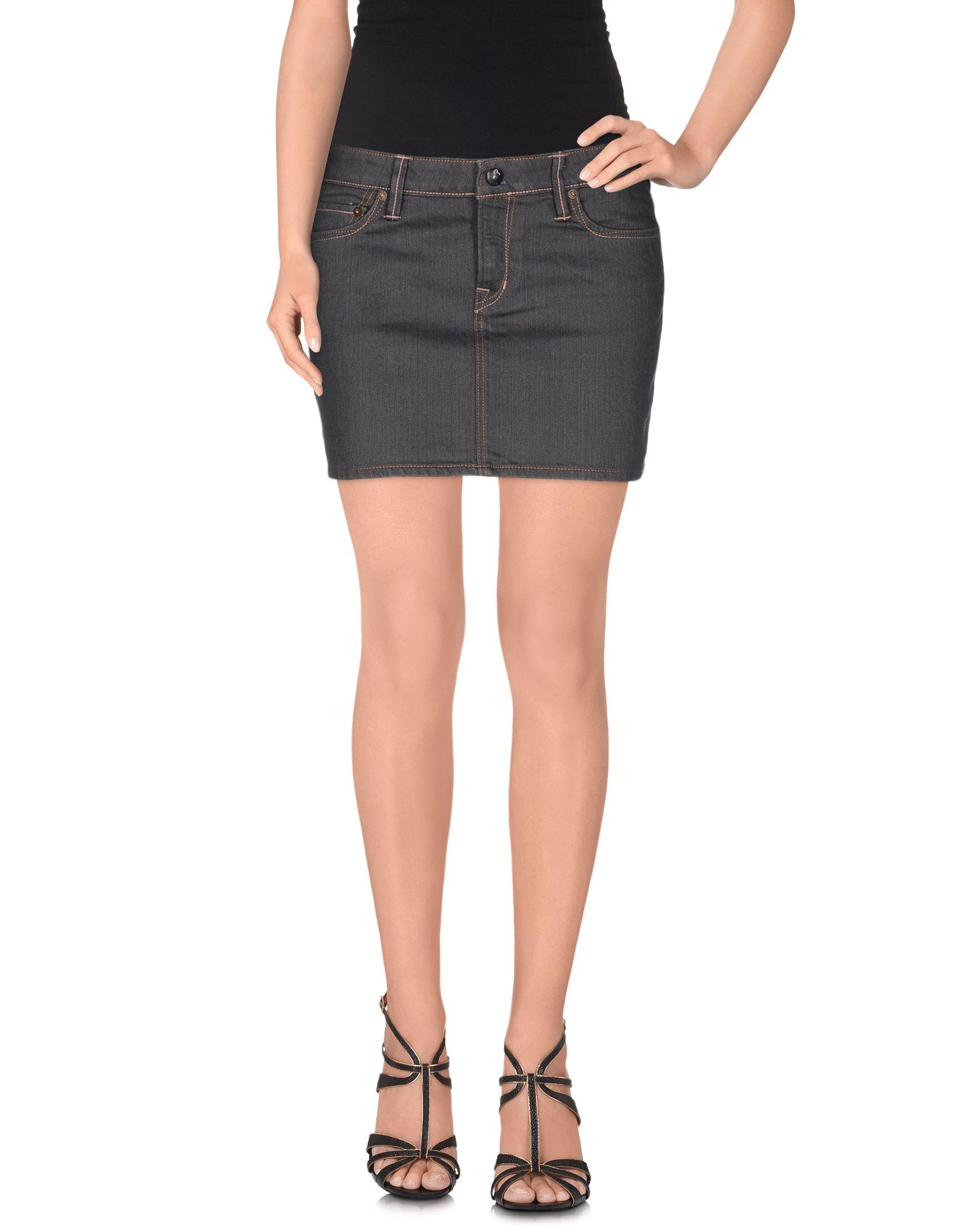 75e5c625e5b3 Lyst - Evisu Denim Skirt in Blue