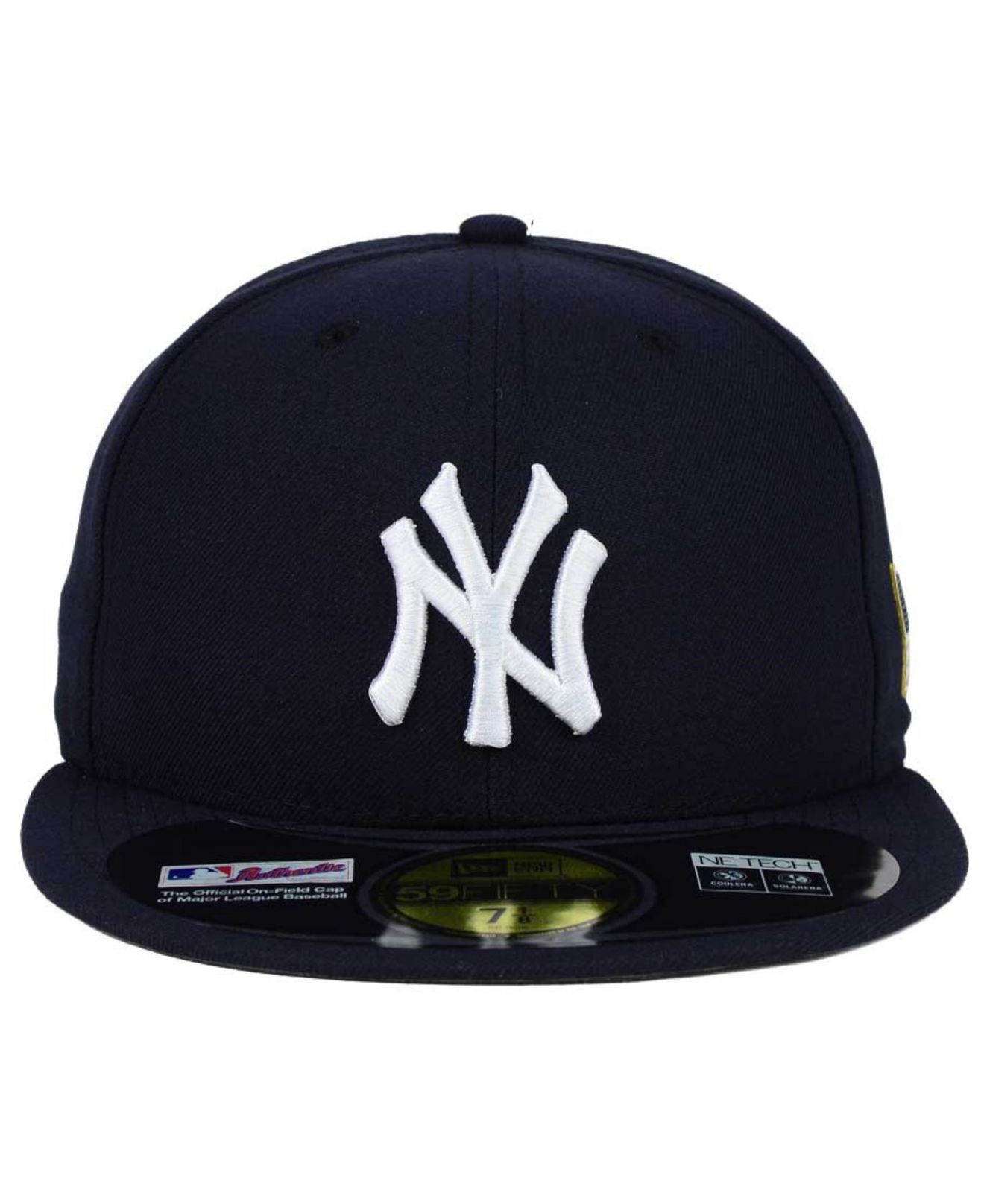 cdb369def24 ... navy  lyst ktz new york yankees ac 9 11 patch 59fifty cap in blue for  men