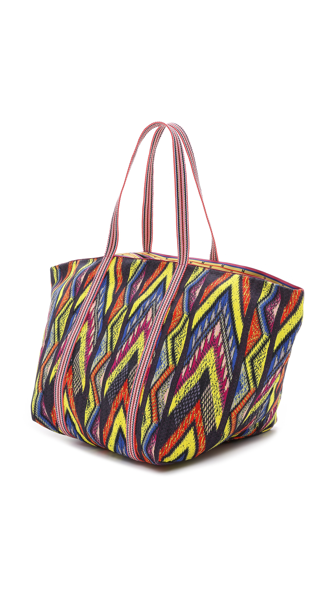 M missoni Tribal Zigzag Beach Bag - Royal | Lyst