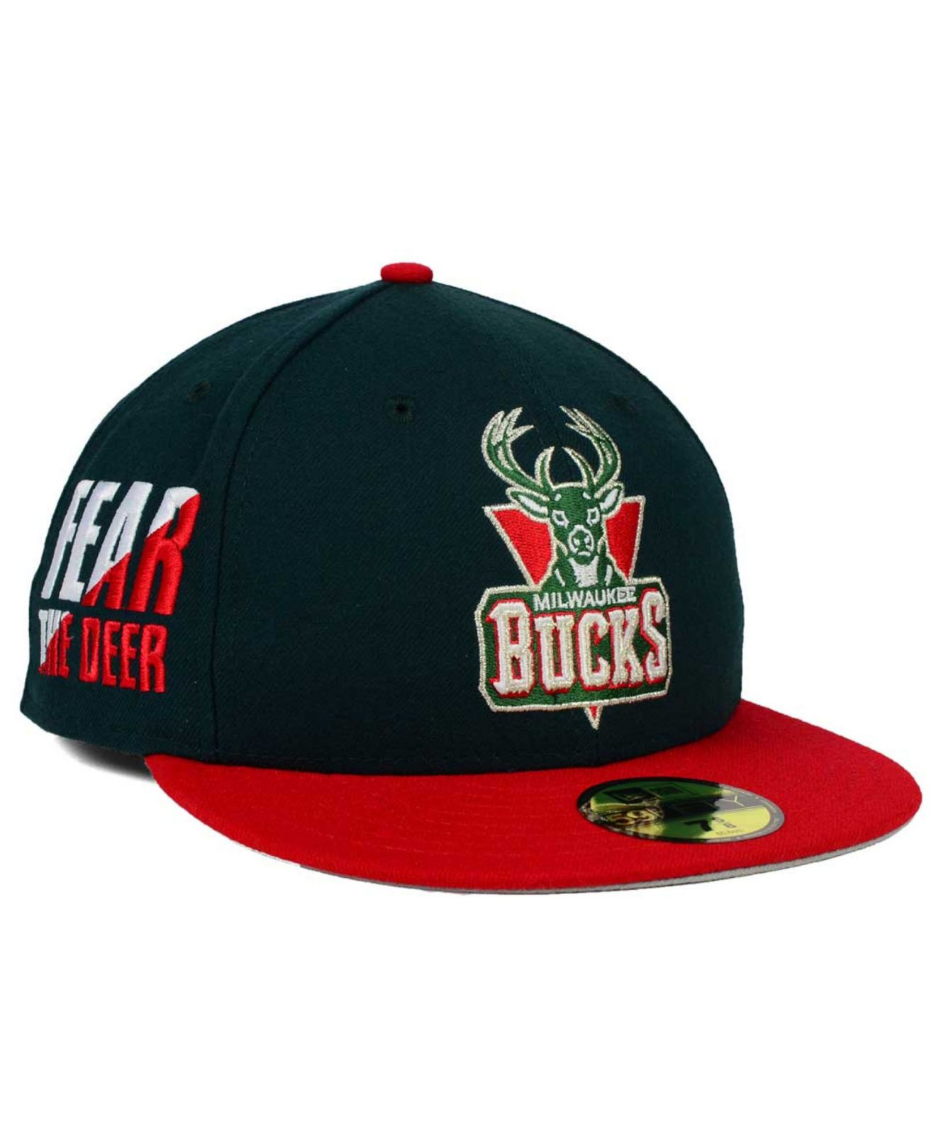 Milwaukee Bucks: Ktz Milwaukee Bucks Side Hit 59fifty Cap In Green