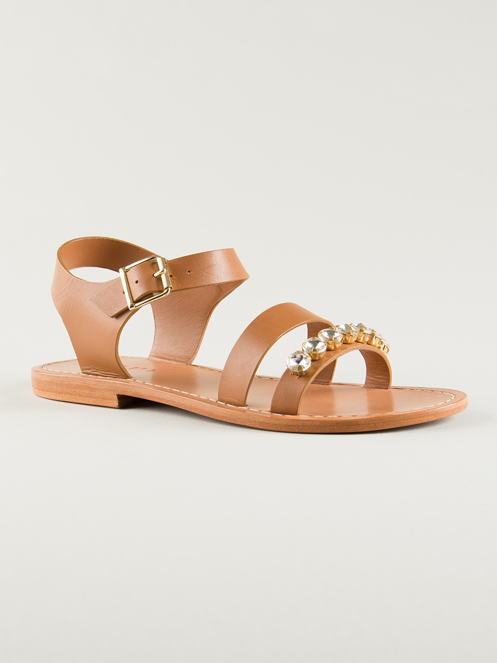 5ad0c411b Lyst - Marni Embellished Sandals in Brown