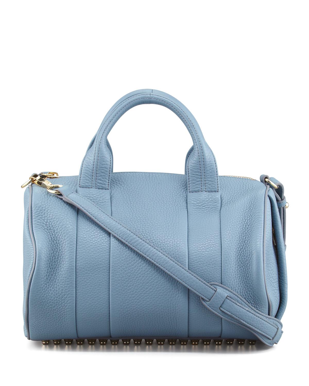 alexander wang rocco stud bottom satchel bag in metallic. Black Bedroom Furniture Sets. Home Design Ideas