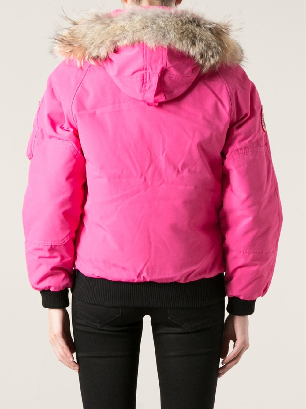 canada goose bomber pink